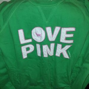 Pink large rare green sweatshirt
